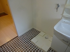 302号室洗濯機置き場